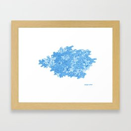 March's Blue 7 | Artline Drawing Pens Sketch Framed Art Print