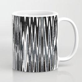 Monochrome Marble Chevron Waves Coffee Mug