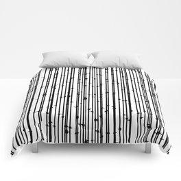 Distraction #abstract #blackandwhite Comforters