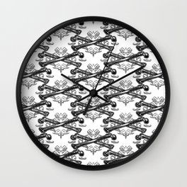 Crossed bones filigree Wall Clock