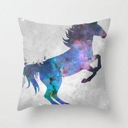 Galaxy Series (Horse) Throw Pillow