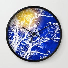 Blue Tree Art Wall Clock