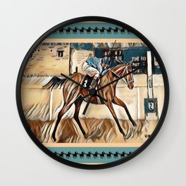 """Racehorse Fantasy"" Wall Clock"