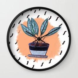 Flowers in Pot Wall Clock