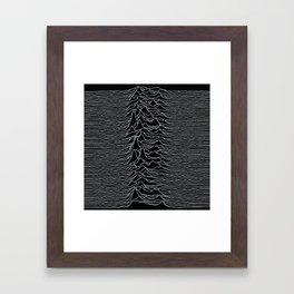 Unknown Radio Waves - Unknown Pleasures Framed Art Print