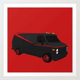 The A-Team Van Art Print