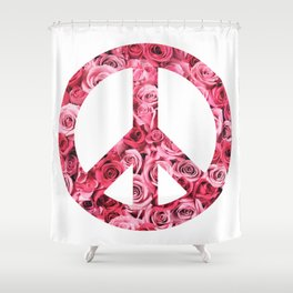 Peace and Flowers Shower Curtain