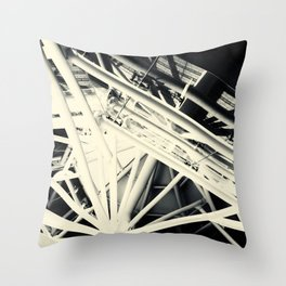 Spider Roof Struts Abstract Throw Pillow