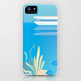 Great Barrier Reef, Australia - Skyline Illustration by Loose Petals iPhone Case