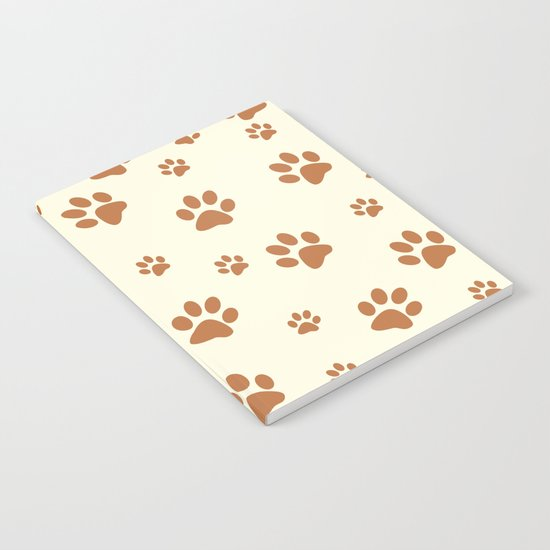 Muddy Puppy Paw Prints Notebook