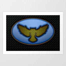 Enamel badge Art Print