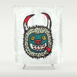 Traditional Croatian carnival mask from the region around Rijeka Shower Curtain