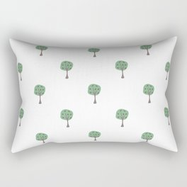 Seamless Tree Pattern with small trees Rectangular Pillow
