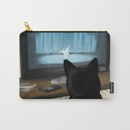 Watching TV Carry-All Pouch