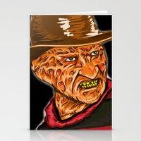 freddy krueger Stationery Cards featuring Freddy Krueger by Art of Fernie