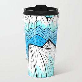 Antarctica mountains Metal Travel Mug