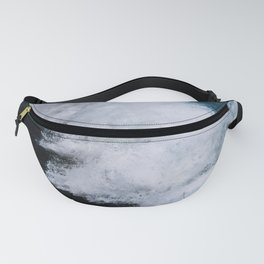 Powerful breaking wave in the Atlantic Ocean - Landscape Photography Fanny Pack