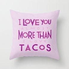 Taco Valentine Throw Pillow