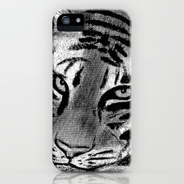 Tiger with White Background iPhone Case