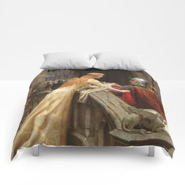 "Edmund Blair Leighton ""God Speed!"" Comforters"