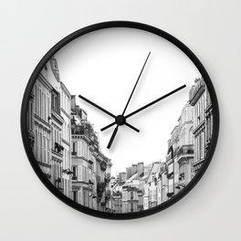 Street in Paris Wall Clock