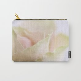 Pale pink macro rose Carry-All Pouch