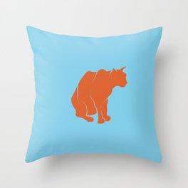print cat shilouette Throw Pillow