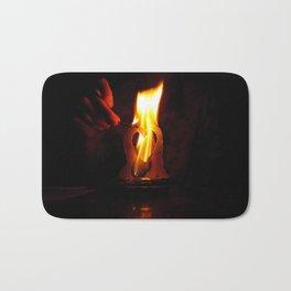 Love on Fire.  Bath Mat
