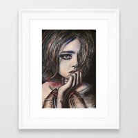 lungs Framed Art Prints featuring lungs by Lizzy Klingen