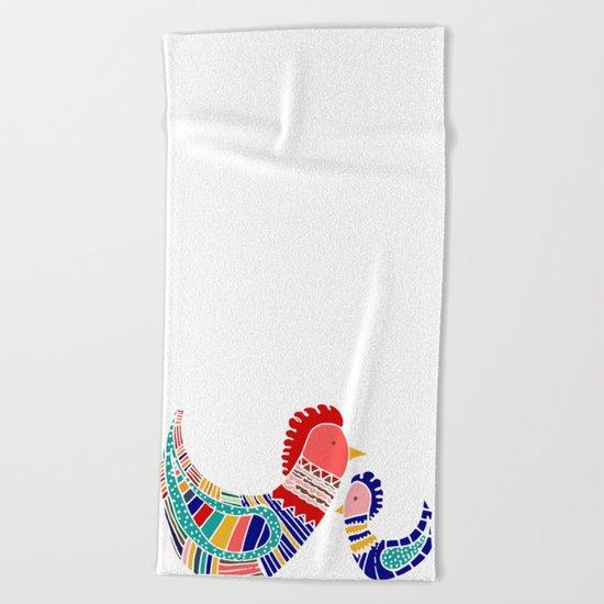 Rooster Beach Towel
