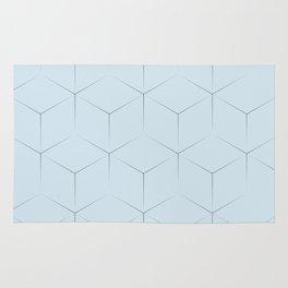 Blocks on blue background Rug