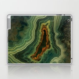 The world of gems - green agate Laptop & iPad Skin