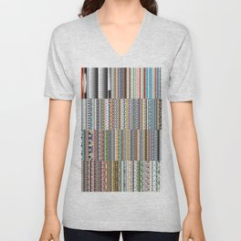 Every illustrator pattern Unisex V-Neck
