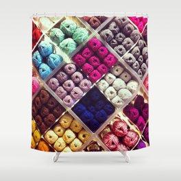Yarn Display Shower Curtain