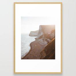 Jurassic Coast Sunset Framed Art Print