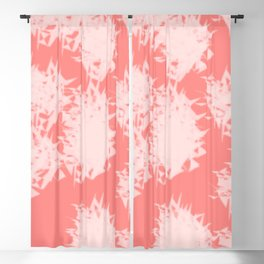 Vivid Tangerine Splatter Blackout Curtain