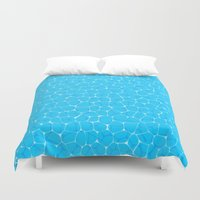 pool Duvet Covers featuring Pool by minemory