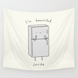 I'm Beautiful Inside Wall Tapestry