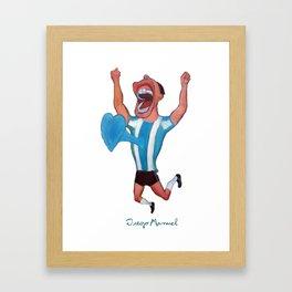 Gol de Argentina Framed Art Print