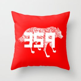 Wolf 359 Throw Pillow