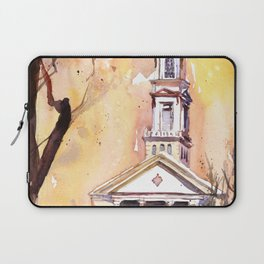 Watercolor painting of the Hayes-Barton church in Raleigh, North Carolina Laptop Sleeve
