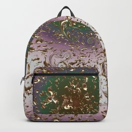 Golden Rain Light- Lila Backpack