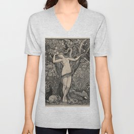 Eve And The Serpent Unisex V-Neck