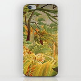 Henri Rousseau - Tiger In A Tropical Storm iPhone Skin