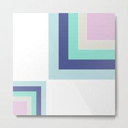 Simple geometric patchwork Metal Print