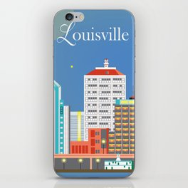 Louisville, Kentucky - Skyline Illustration by Loose Petals iPhone Skin
