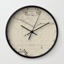 Passport card for the west coast of Africa, Jan Luyken, 1683 - 1799 Wall Clock