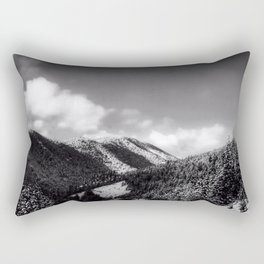 Big Sky Country - Black And White Rectangular Pillow