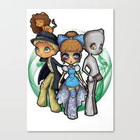 oz Canvas Prints featuring Oz  by Mickey Spectrum