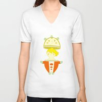 persona V-neck T-shirts featuring Teddie - Persona 4 by Jarvis Glasses